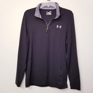 Under Armour Small Black Cold Gear 1/4 Zip Jacket